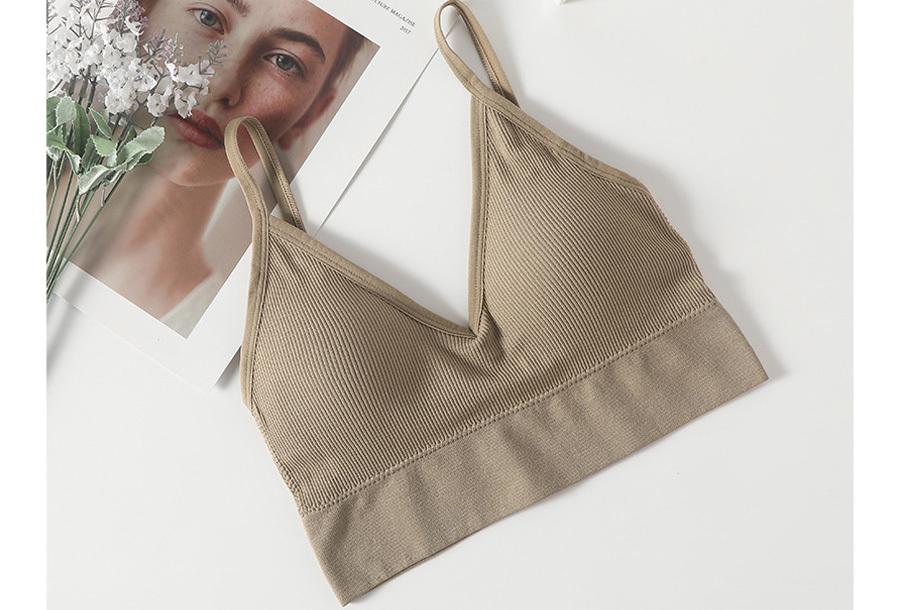 Comfy ondergoed M/L BH + string - Khaki