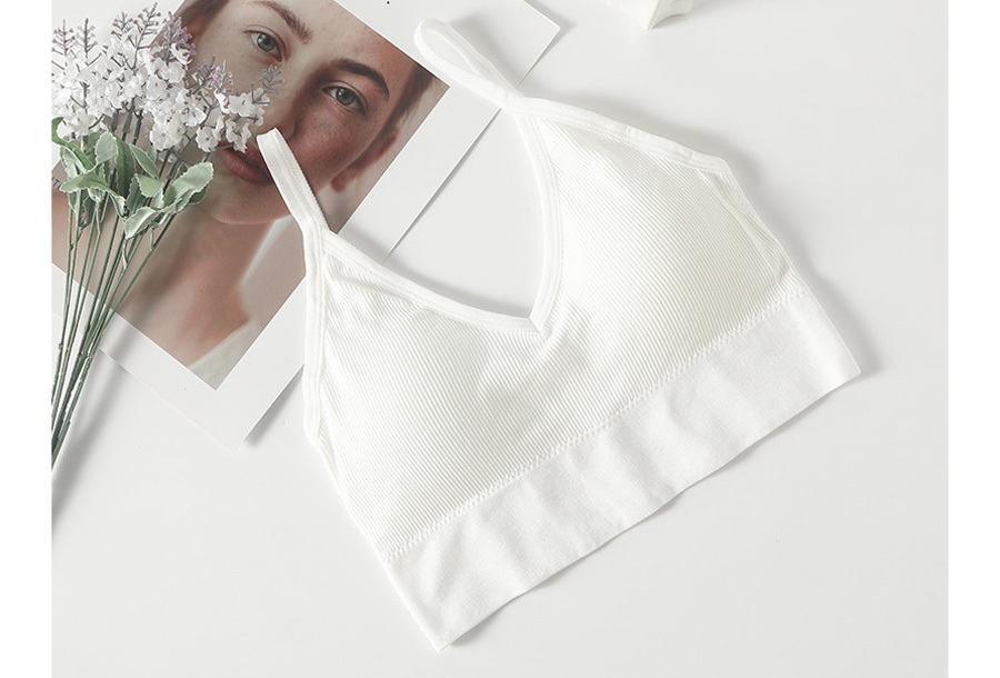 Comfy ondergoed S/M BH + string - Wit