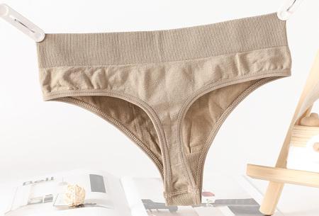 Comfy ondergoed   String en/of bh in 7 kleuren!  String - Khaki