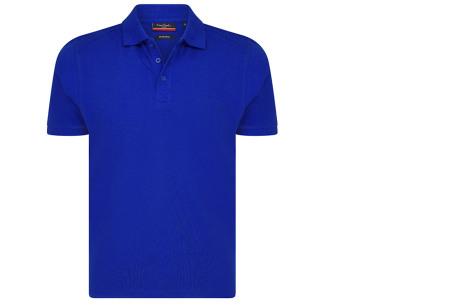 Pierre Cardin herenpolo's | Topkwaliteit polo's van 100% katoen Kobaltblauw