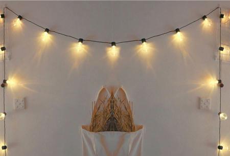 Waterproof lichtslinger | Sfeervolle verlichting met glazen halogeen lampen