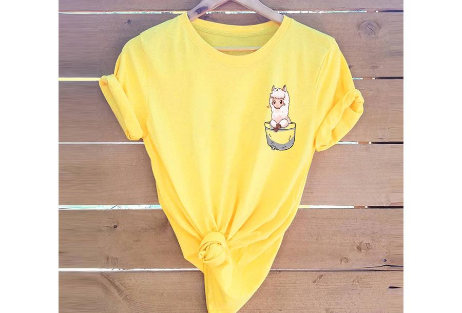 Alpaca T-shirt - Maat 3XL - Geel