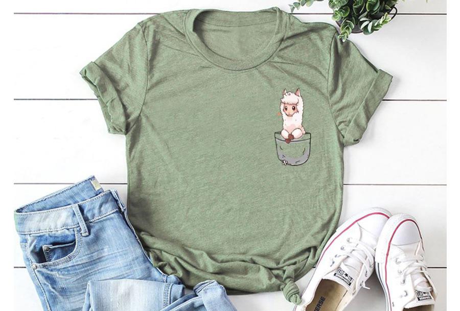 Alpaca T-shirt - Maat 2XL - Legergroen