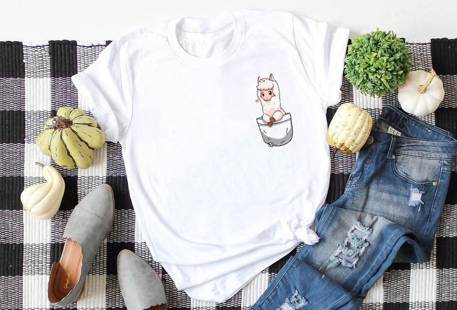 Alpaca T-shirt - Maat XL - Wit