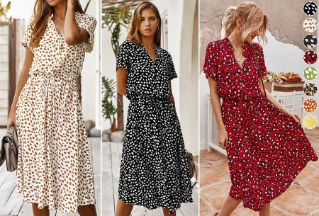 Leopard midi jurk | Trendy zomerjurk voor dames nu in de sale