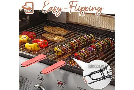 Bbq grillmanden   Afsluitbare spieshouders voor het grillen van vlees of groenten