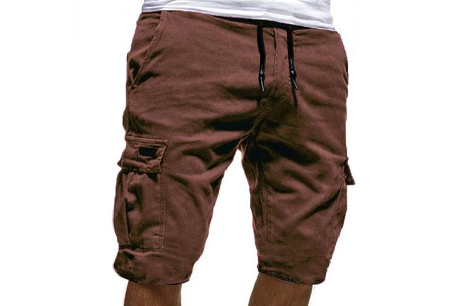Korte broek heren - Maat M - Bruin