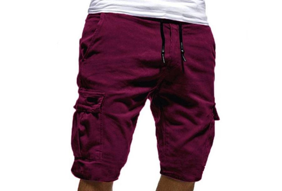 Korte broek heren - Maat 2XL - Wijnrood