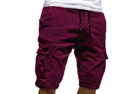 Heren korte broek   Casual shorts voor de zomer - in 10 kleuren Wijnrood