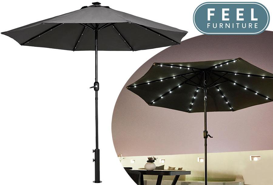 Grote led-parasol nu met 50% korting