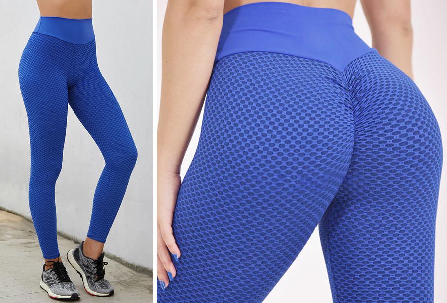 Push-up legging Maat 3XL - Blauw