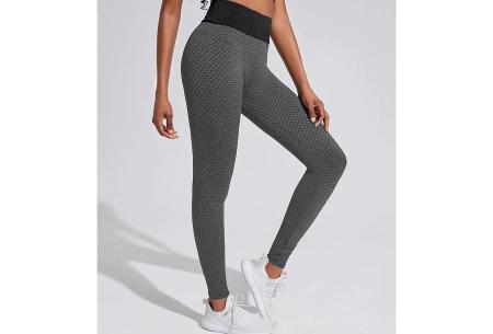 Push-up legging | Comfortabele en figuurcorrigerende sportlegging voor dames  Donkergrijs