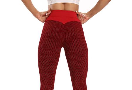 Push-up legging | Comfortabele en figuurcorrigerende sportlegging voor dames  Rood