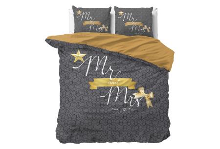 Dekbedovertrekken met fotoprint design   Cotton blended beddengoed - in 7 prints Mr & Mrs - Black