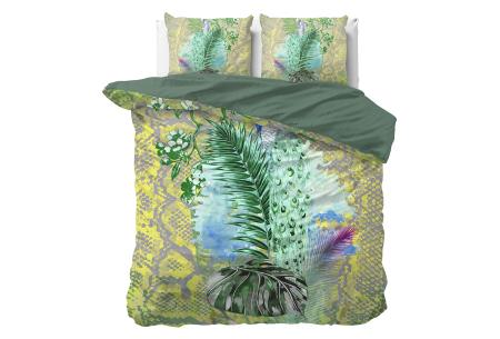 Dekbedovertrekken met fotoprint design   Cotton blended beddengoed - in 7 prints Snake Jungle Green