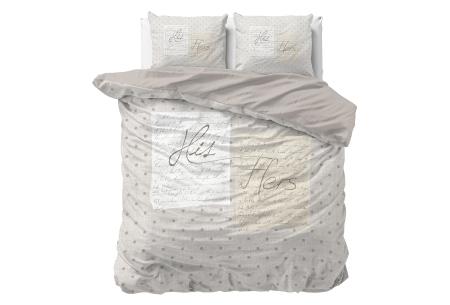 Dekbedovertrekken met fotoprint design   Cotton blended beddengoed - in 7 prints His & Hers - Cream