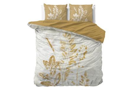 Dekbedovertrekken met fotoprint design   Cotton blended beddengoed - in 7 prints Gold Stripe Multi