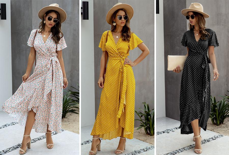 Trendy maxi jurk in de aanbieding