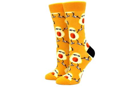 Printed Socks   Leuke sokken voor dames en heren - los of als 15-pack! Avocado - geel