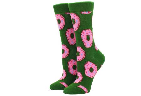 Printed Socks   Leuke sokken voor dames en heren - los of als 15-pack! Donut