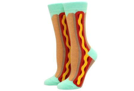 Printed Socks   Leuke sokken voor dames en heren - los of als 15-pack! Hotdog