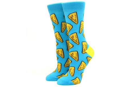 Printed Socks   Leuke sokken voor dames en heren - los of als 15-pack! Kaas
