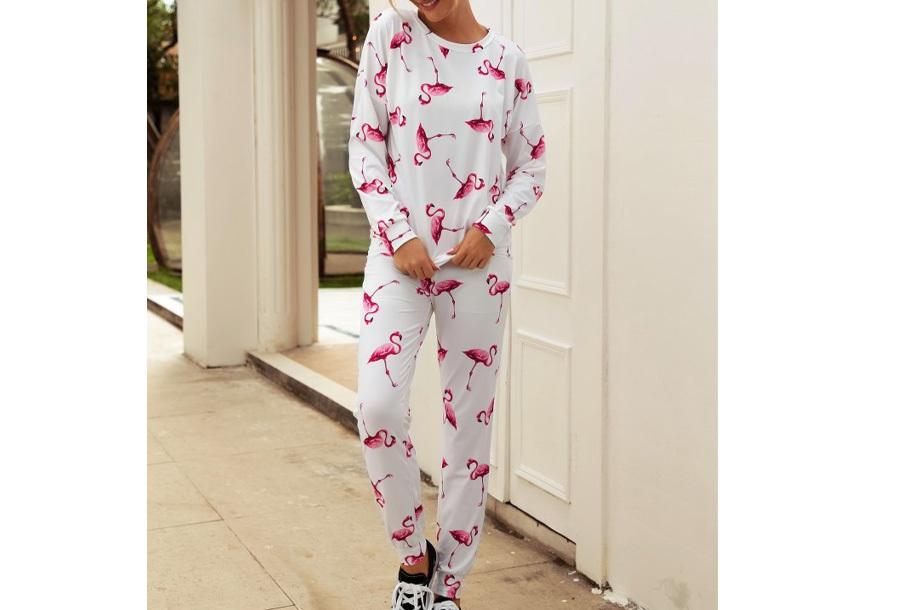 Tropical huispak voor dames Maat XL - Flamingo