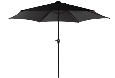 XL parasol van 909 outdoor   In zwart of taupe - eventueel met vulbare parasolvoet  Zwart