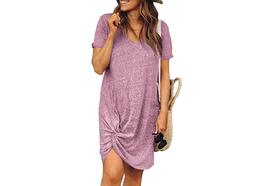 Knotted jurk Maat XL - Roze