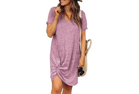 Knotted jurk voor dames | Leuk kort zomerjurkje met knoop Roze