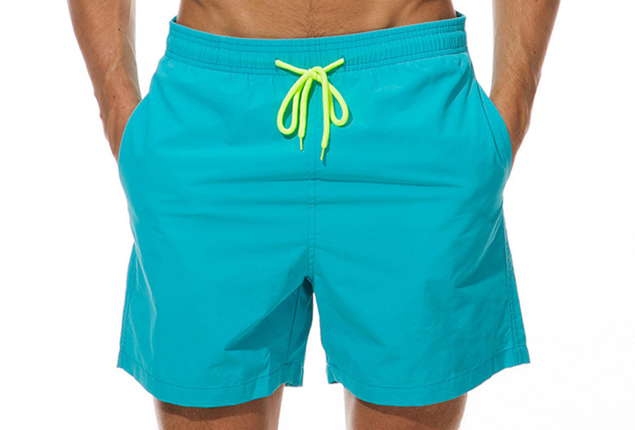 Coloured zwembroek - Aqua blauw - Maat L