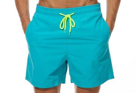 Coloured zwembroek   Zwemshort voor heren in 15 kleuren Aqua blauw