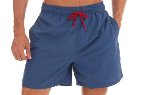 Coloured zwembroek   Zwemshort voor heren in 15 kleuren Donkerblauw