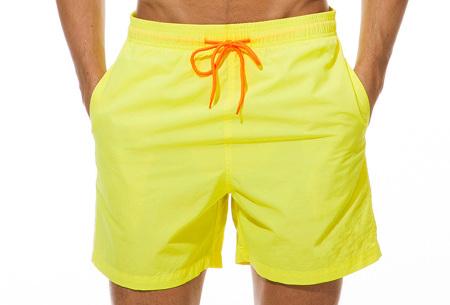 Coloured zwembroek   Zwemshort voor heren in 15 kleuren Geel