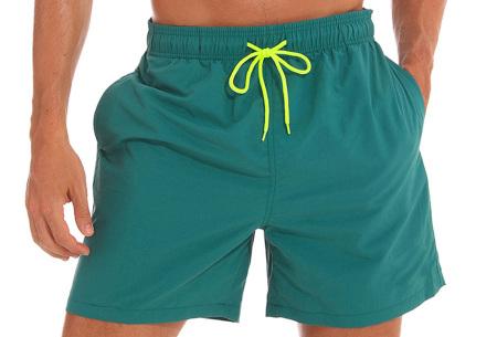 Coloured zwembroek   Zwemshort voor heren in 15 kleuren Groen