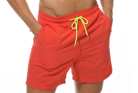 Coloured zwembroek   Zwemshort voor heren in 15 kleuren Oranje