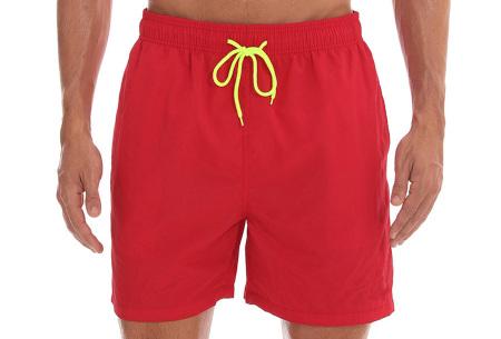 Coloured zwembroek   Zwemshort voor heren in 15 kleuren Rood