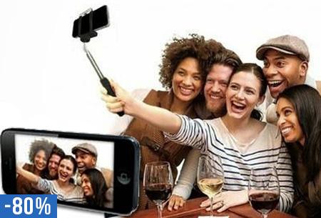 Smartphone monopod remote selfie stok