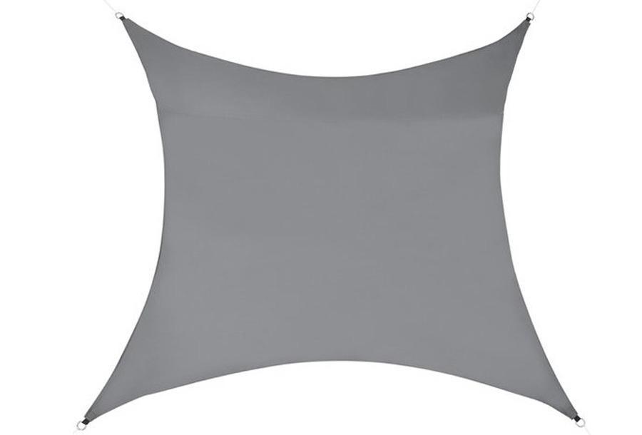 Schaduwdoek 5 meter - Grijs + Schaduwdoek paal