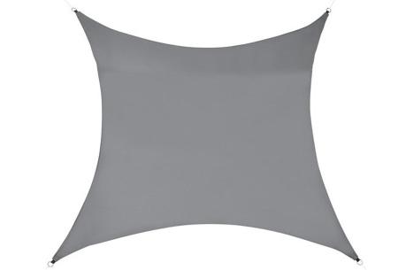 Schaduwdoek - formaat van 3 of 5 meter | Creëer een heerlijke schaduwplek in jouw tuin Grijs - 5 meter