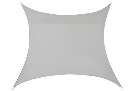 Schaduwdoek - formaat van 3 of 5 meter | Creëer een heerlijke schaduwplek in jouw tuin Lichtgrijs - 3 meter