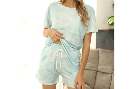 Summer shortama voor dames   Korte zomer pyjama in 9 verschillende prints Clouds