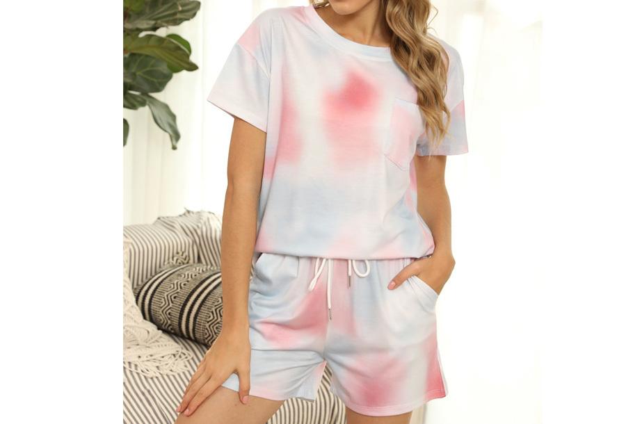 Summer shortama voor dames Maat L - Multicolor - Roze
