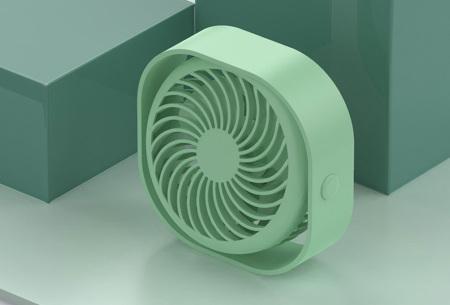 Draadloze tafelventilator   Klein, stil en oplaadbaar Groen