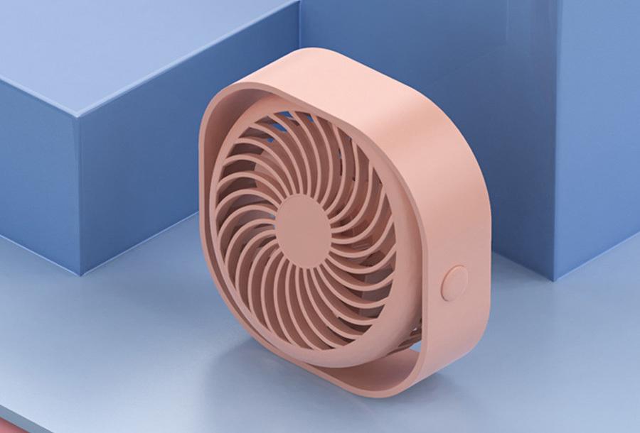 Draadloze ventilator Roze