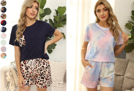 Summer shortama voor dames   Korte zomer pyjama in 9 verschillende prints