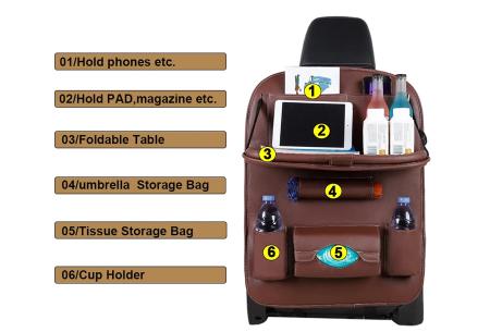 Auto-organizer | Pu lederen autostoelaccessoire - in 5 kleuren