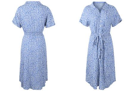 Flower jurk | Luchtige lange jurk met bloemenprint