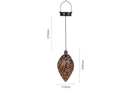 Oosterse solar tuinlamp | Sfeervolle hanglamp voor buiten op zonne-energie
