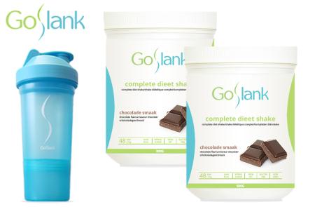 GoSlank afslankshakes voor 1 maand | Snel en op een gezonde manier afvallen! + GRATIS extra's Chocolade